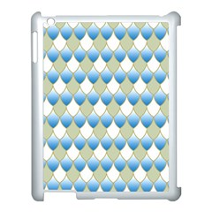 Squama Fish Blue Pattern Apple Ipad 3/4 Case (white) by Cveti