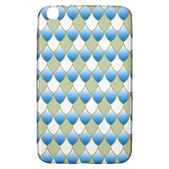 Squama Fish Blue Pattern Samsung Galaxy Tab 3 (8 ) T3100 Hardshell Case  by Cveti
