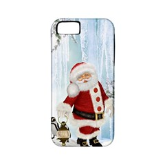 Santa Claus With Funny Penguin Apple Iphone 5 Classic Hardshell Case (pc+silicone) by FantasyWorld7