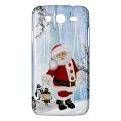 Santa Claus With Funny Penguin Samsung Galaxy Mega 5 8 I9152 Hardshell Case  by FantasyWorld7