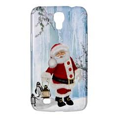 Santa Claus With Funny Penguin Samsung Galaxy Mega 6 3  I9200 Hardshell Case by FantasyWorld7