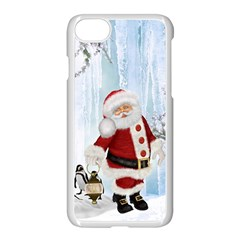 Santa Claus With Funny Penguin Apple Iphone 7 Seamless Case (white) by FantasyWorld7