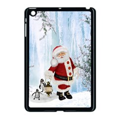 Santa Claus With Funny Penguin Apple Ipad Mini Case (black) by FantasyWorld7