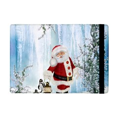 Santa Claus With Funny Penguin Ipad Mini 2 Flip Cases by FantasyWorld7