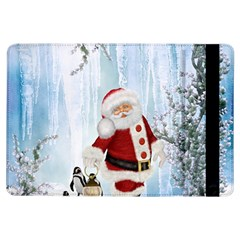 Santa Claus With Funny Penguin Ipad Air Flip by FantasyWorld7