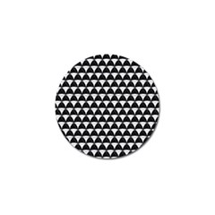 Diamond Pattern Black White Golf Ball Marker (10 Pack) by Cveti