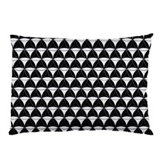 Diamond Pattern Black White Pillow Case by Cveti
