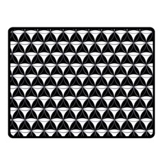 Diamond Pattern Black White Fleece Blanket (small) by Cveti