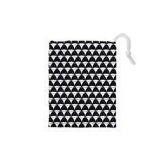 Diamond Pattern Black White Drawstring Pouches (xs)  by Cveti