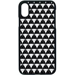 Diamond Pattern Black White Apple Iphone X Seamless Case (black)