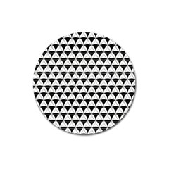 Diamond Pattern White Black Magnet 3  (round) by Cveti