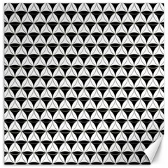 Diamond Pattern White Black Canvas 12  X 12   by Cveti