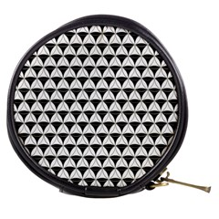 Diamond Pattern White Black Mini Makeup Bags by Cveti