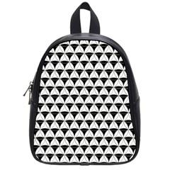 Diamond Pattern White Black School Bag (small) by Cveti
