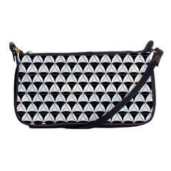 Diamond Pattern White Black Shoulder Clutch Bags by Cveti