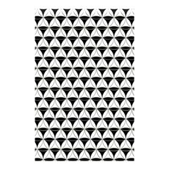 Diamond Pattern White Black Shower Curtain 48  X 72  (small)  by Cveti