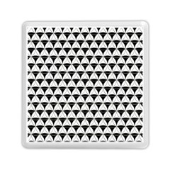 Diamond Pattern White Black Memory Card Reader (square)  by Cveti