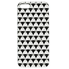 Diamond Pattern White Black Apple Iphone 5 Hardshell Case With Stand by Cveti