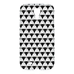 Diamond Pattern White Black Samsung Galaxy S4 I9500/i9505 Hardshell Case by Cveti