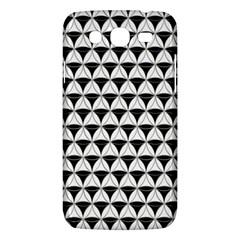 Diamond Pattern White Black Samsung Galaxy Mega 5 8 I9152 Hardshell Case  by Cveti