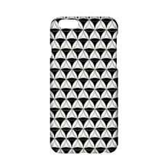 Diamond Pattern White Black Apple Iphone 6/6s Hardshell Case by Cveti