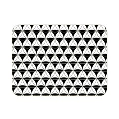 Diamond Pattern White Black Double Sided Flano Blanket (mini)  by Cveti