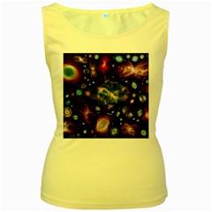 Galaxy Nebula Women s Yellow Tank Top