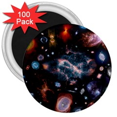 Galaxy Nebula 3  Magnets (100 Pack) by Celenk