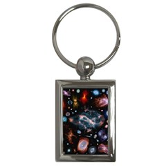 Galaxy Nebula Key Chains (rectangle)