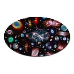 Galaxy Nebula Oval Magnet