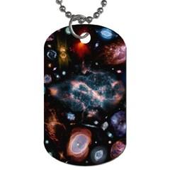 Galaxy Nebula Dog Tag (one Side)