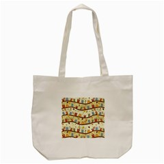 Autumn Owls Pattern Tote Bag (cream) by Celenk