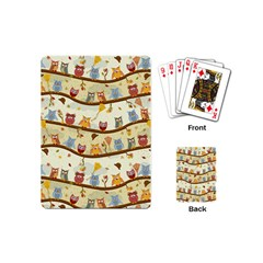 Autumn Owls Pattern Playing Cards (mini)  by Celenk