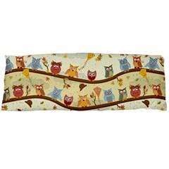 Autumn Owls Pattern Body Pillow Case (dakimakura) by Celenk