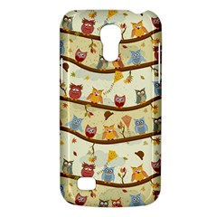 Autumn Owls Pattern Galaxy S4 Mini by Celenk