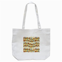 Autumn Owls Pattern Tote Bag (white) by Celenk