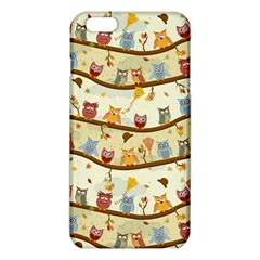 Autumn Owls Pattern Iphone 6 Plus/6s Plus Tpu Case by Celenk