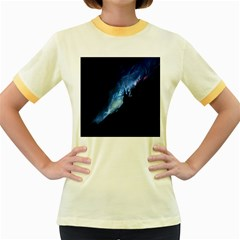 Nebula Women s Fitted Ringer T Shirts