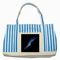 Nebula Striped Blue Tote Bag
