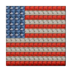 Geometricus Usa Flag Tile Coasters