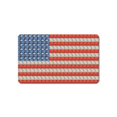Geometricus Usa Flag Magnet (name Card) by Celenk