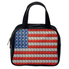 Geometricus Usa Flag Classic Handbags (one Side) by Celenk