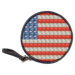 Geometricus Usa Flag Classic 20 Cd Wallets by Celenk