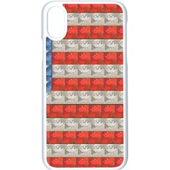 Geometricus Usa Flag Apple Iphone X Seamless Case (white)