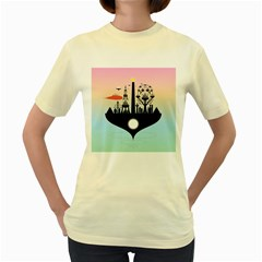 Future City Women s Yellow T Shirt