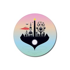 Future City Rubber Coaster (round)