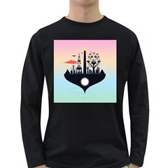 Future City Long Sleeve Dark T Shirts