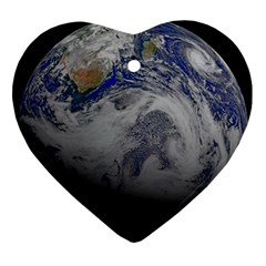 A Sky View Of Earth Ornament (heart)