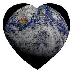 A Sky View Of Earth Jigsaw Puzzle (heart)