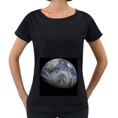 A Sky View Of Earth Women s Loose Fit T Shirt (black)